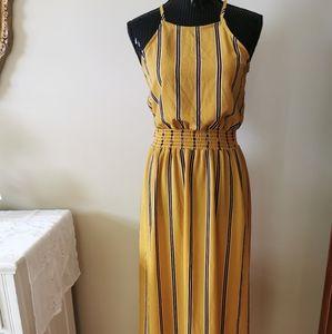 Velvet Torch Mustard Yellow & Striped Dress